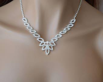 "Set of ""Noir"",Bridal jewelry set, Wedding necklace, wedding jewelry set, bridal necklace."