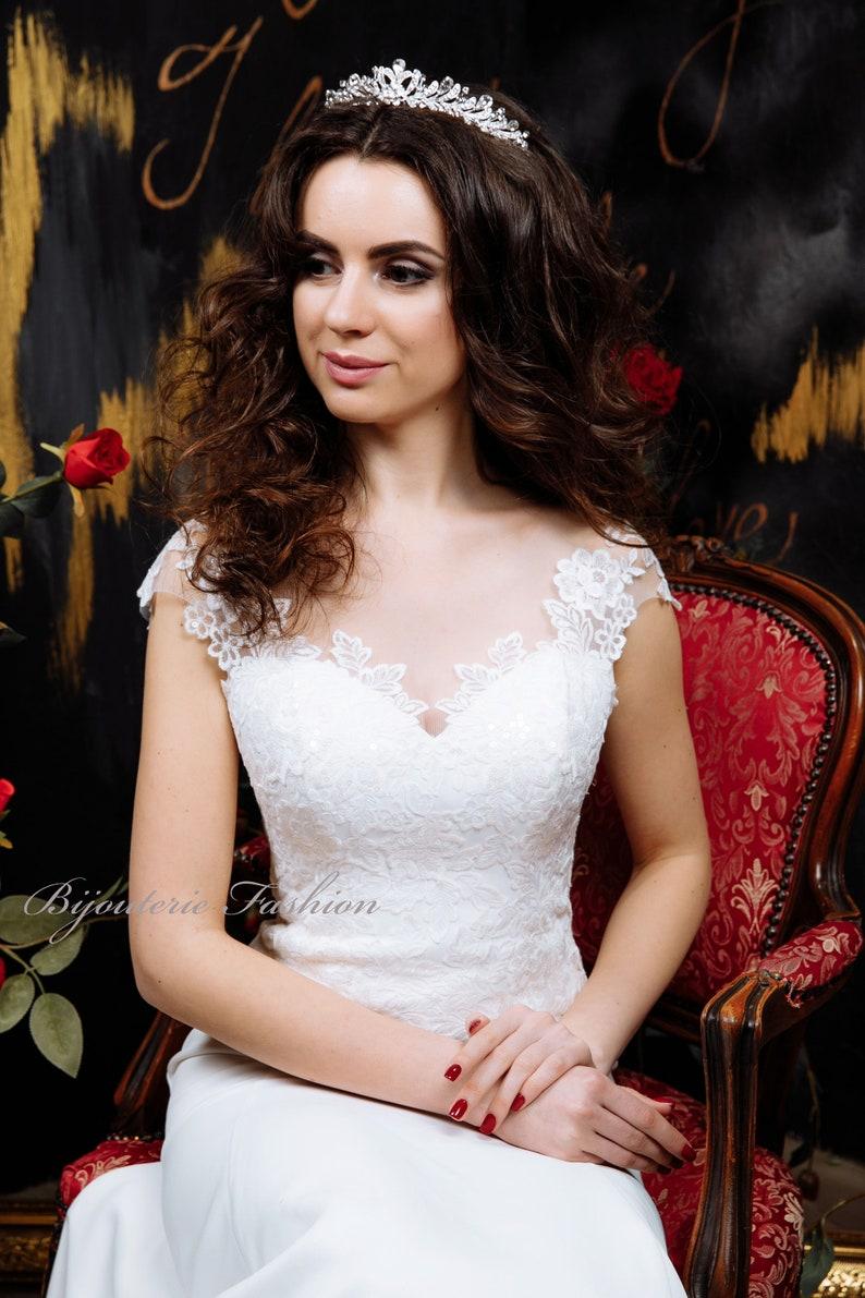 Wedding Tiara Silver Tiara,Gold Tiara,Crystal Headband Bridal Tiara Bridal Hair Piece,Bridal Crown. Rhinestone Tiara
