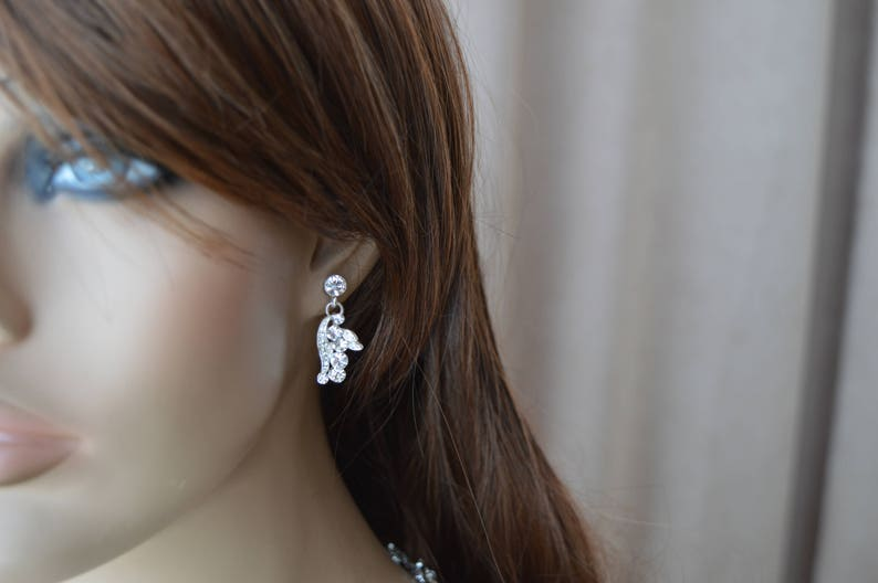 Wedding jewelry,crystal jewelry,Bridal Necklace,Bridesmaid jewelry Set. Necklace and earrings Bridal jewelry set