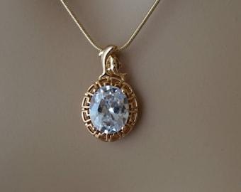 CZ necklace,Bridal Necklace, Wedding necklace, Bridal Jewelry.