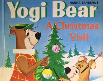 Yogi Bear A Christmas Visit A Little Golden Book 1961