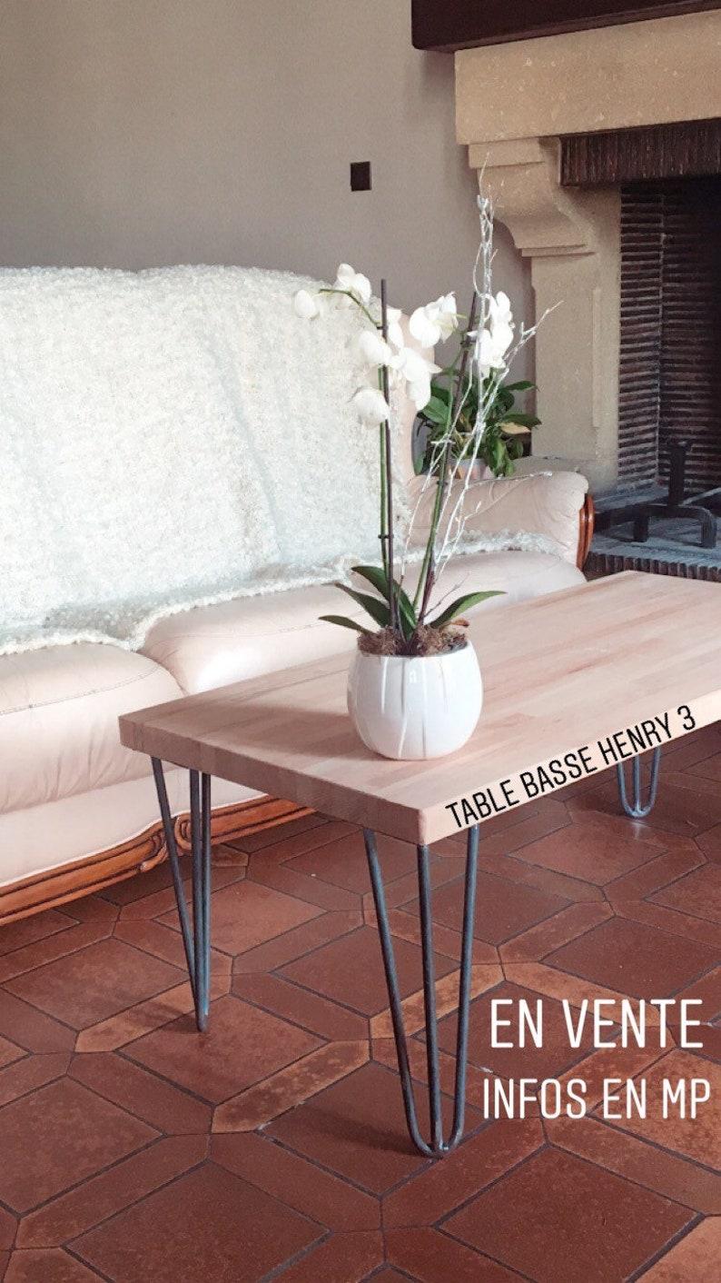 Industriel Table Basse Palette coffee table beech hairpin legs henry 3