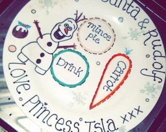 Christmas Personalised Plates To Santa