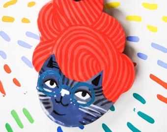 Large Cat Ornament No. 41