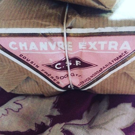 10 Bobines de fil de chanvre extra ancien de 50g 50g de no6 dans leur emballage d'origine datant des années 30 et de la marque Cousins Frères. ed3450