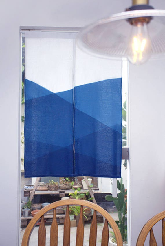 Indigo Door Curtain Window Curtain Tapestry Wall Hanging