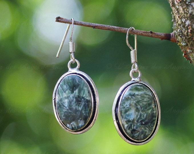 Seraphinite Stud Earrings earrings