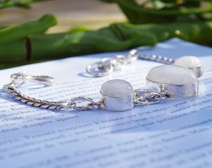 Bracelet pierre de lune, moonstone bracelet