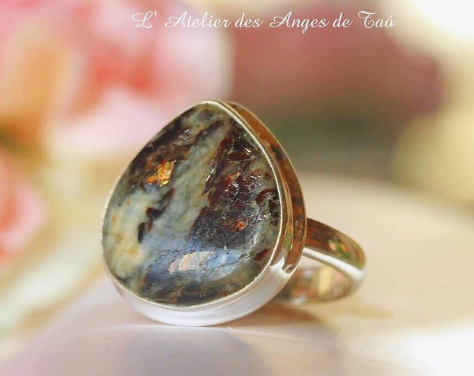 Astrophyllite silver sterling  ring 925 size 53 or 6.5 US