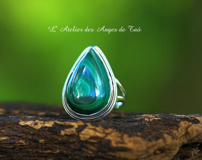 Beautiful Malachite ring
