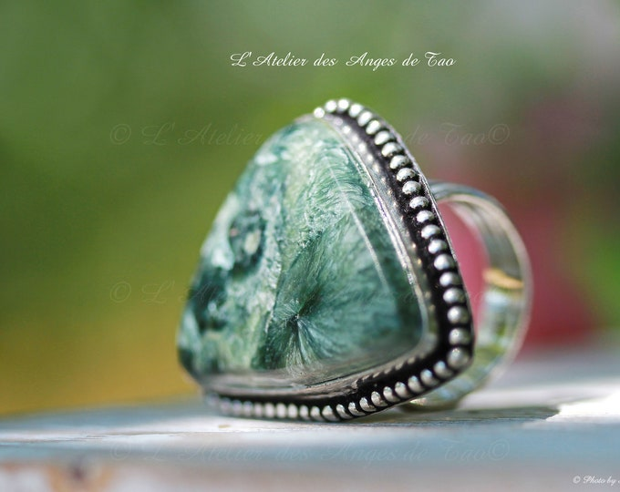 Seraphinite Jewelry Silver Rings