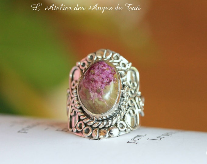 Superb sugilite ring size 53 or 6.5 US Luxury Collection