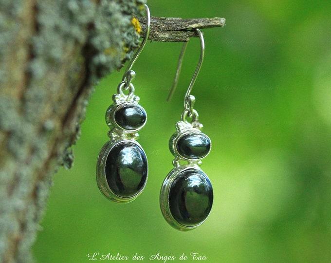 Hematite, hematite earrings silver earrings 925 sterling