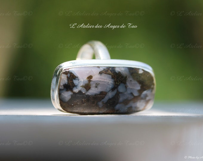 Rare gabbro ring from Madagascar size 56 or 7.75 US