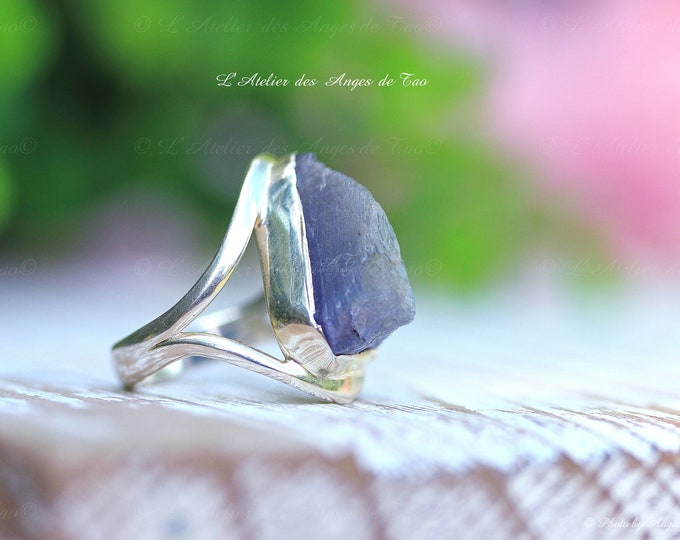 Cyanite bague argent 925, taille 52 ou 6 US