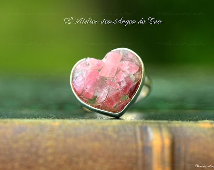 Tourmaline ring size 55 tourmaline pink ring Silver Pink Tourmaline ring