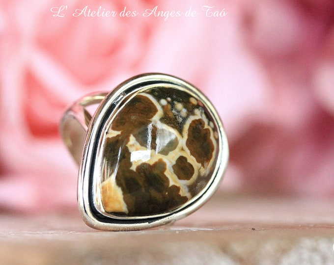 Rare Jaspe Ocean Ring size 54 or 7 US, highly prized stone