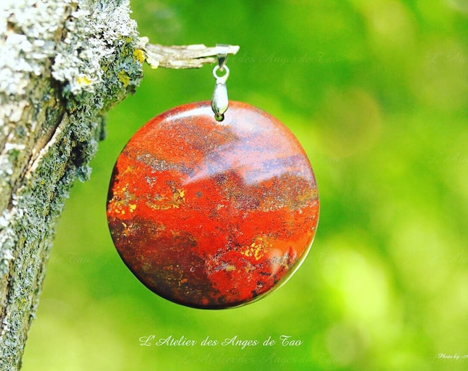 Dragon blood stone pendant Silver Dragon bloodstone Dragon Jasper