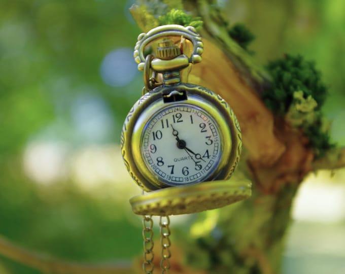Antique bronze pocket watch