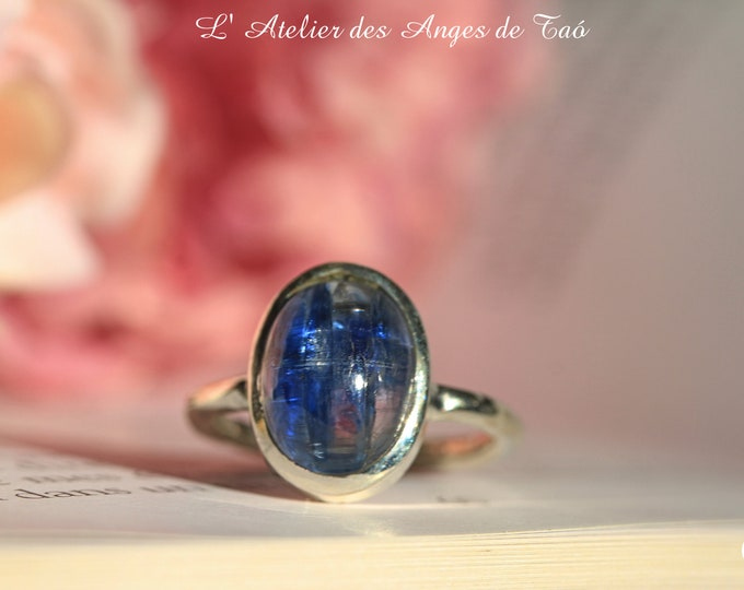Cyanite bague, argent taille 55 ou 7.5 US