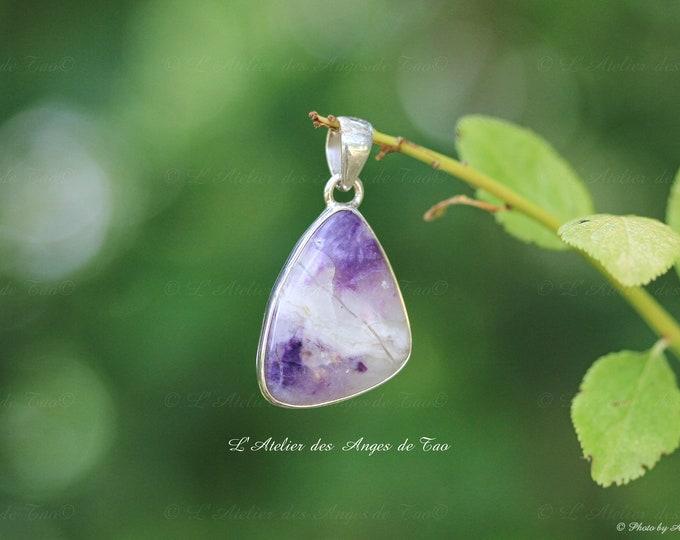 Rare Tiffany stone silver pendant bertrandite tifany