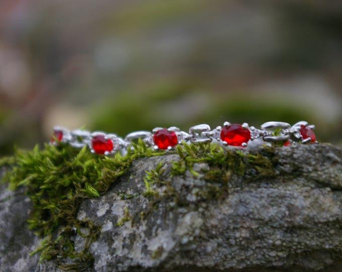 Ruby, clairvoyance stone bracelet