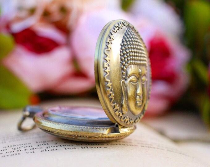 Shown in antique Bronze Buddha