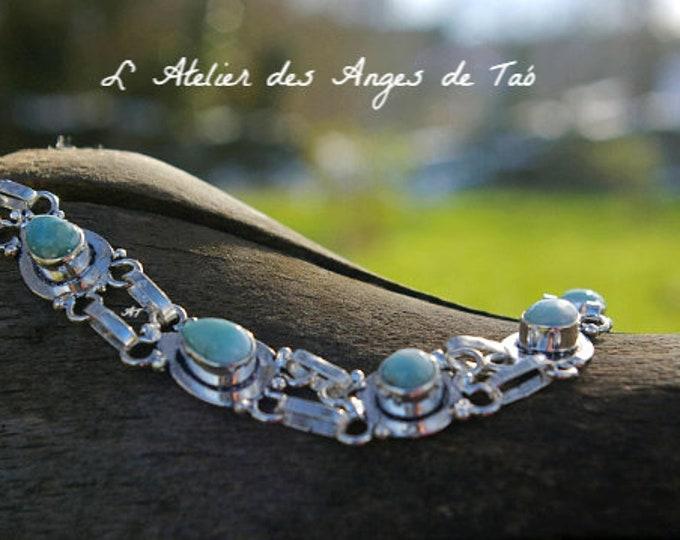 Larimar Bracelet, bijoux pierres Larimar