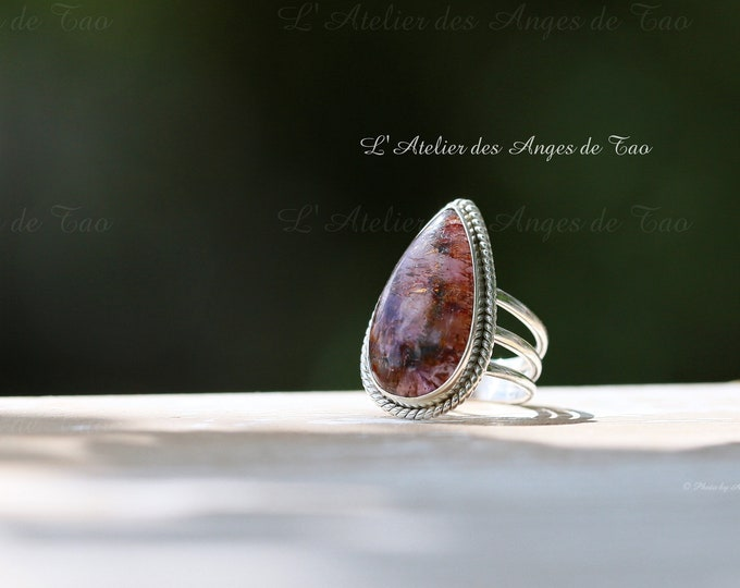Cacoxenite bague argent taille 58 ou 8.5 US