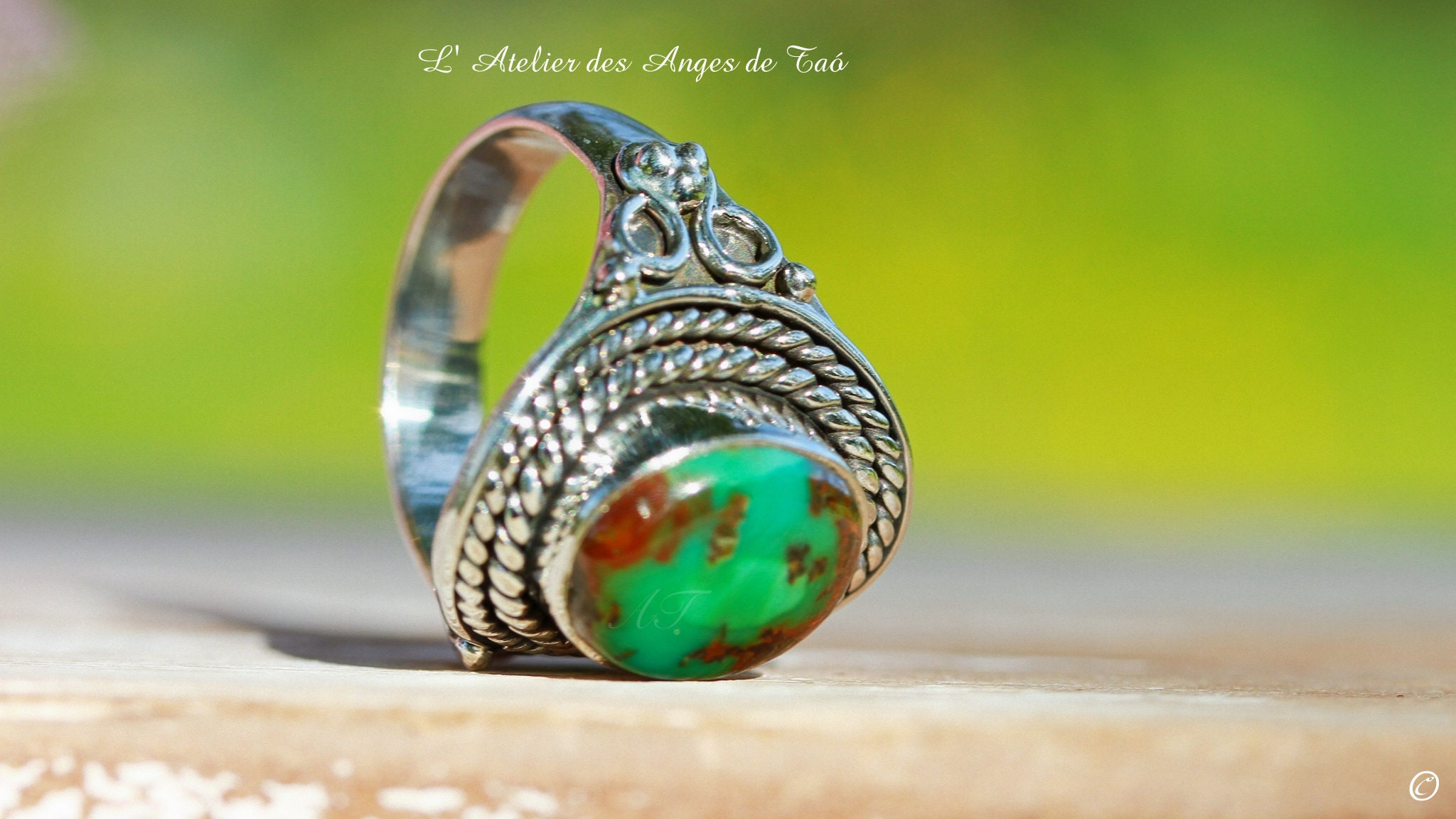 Tibet Turquoise Ring Size 56 Or 775 Us