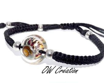 Shell in resin bracelet