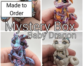 Mystery Box Polymer Clay Baby Dragon Surprise Made to Order
