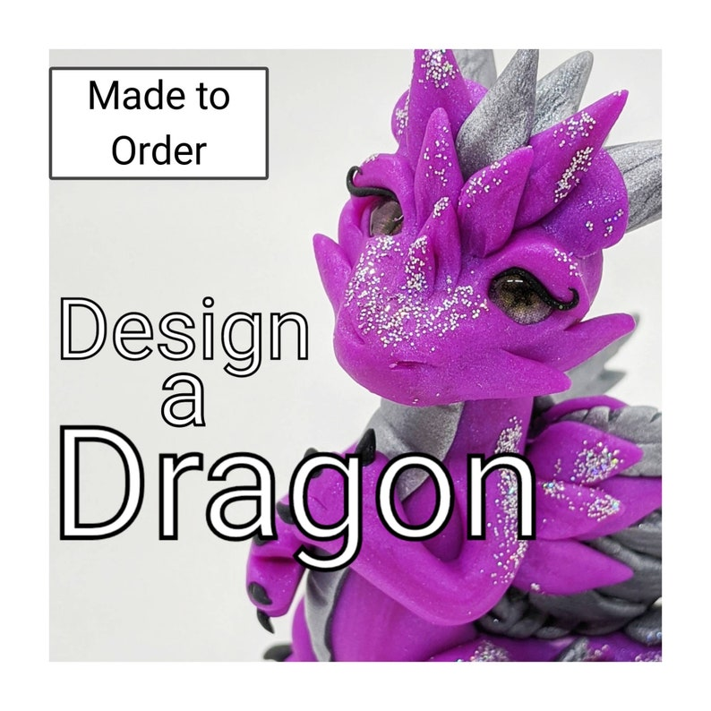 Design Your Own Dragon  Polymer Clay Miniature Sculpture Made image 0