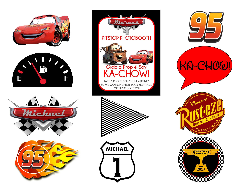 Printable Cars Lightning McQueen Mater Jackson Storm Cruz | Etsy