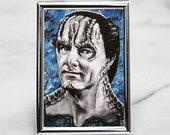 Garak Art Card Print From Deep Space Nine, Star Trek DS9 ACEO Portrait Painting Print