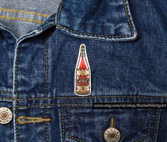 Gothic Pin Halloween Badge 1980s Horror Movie Art Vampire Pin Vampire Movie Art The Lost Boys Pin Badge David/'s Blood Bottle Art Pin
