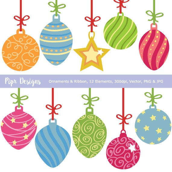 Christmas Ornaments Vector.Christmas Ornaments Clipart Festive Baubles Clip Art Decoration Stars Ornament Vector Jpg And Png For Commercial Use