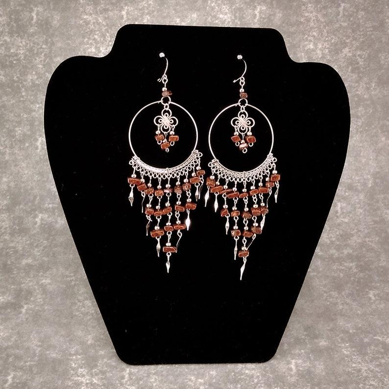 15/% 0FF Chandelier Earring  Peruvian Earrings  Cascade Earrings  Dangle Earrings Tribal Earrings  Alpaca Jewelry  Boho Earrings