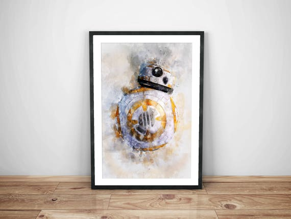 Star Wars Bb8 Poster Droid Stormtrooper Telechargement Immediat Imprimable Star Wars Poster Star Wars Dark Telechargement Last Jedi