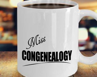 Geneology Family History Genealogist Mug, Genealogy Gift, Gifts for Genealogists Best Ideas, Geneologist Research, Miss Congenealogy Coffee