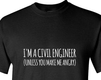 6be2c48f Civil Engineer Shirt, Engineering Gift, Funny Engineer Tshirt, Civil  Engineer Gifts