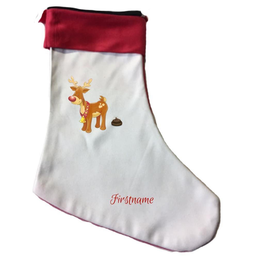 REINDEER STOCKING Custom Stocking Personalized Christmas | Etsy