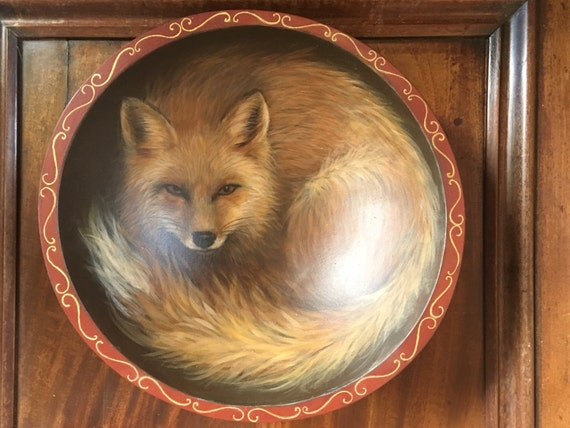 Fox ArtFox PaintingFox CraftRed FoxFox Mixed MediaFox D Etsy - Painted fox home