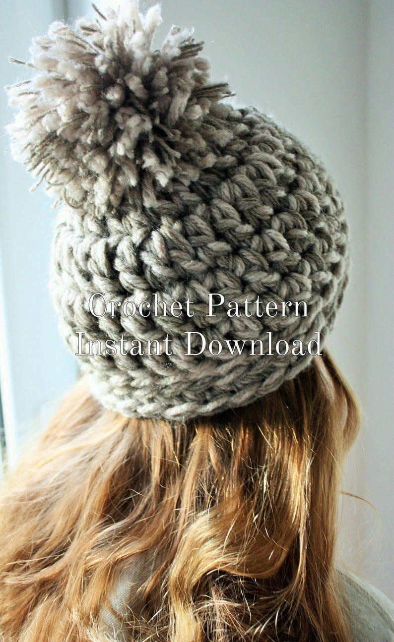 c111fb19b06 Beginners Crochet Chunky Hat Pattern Easy Crochet Unisex