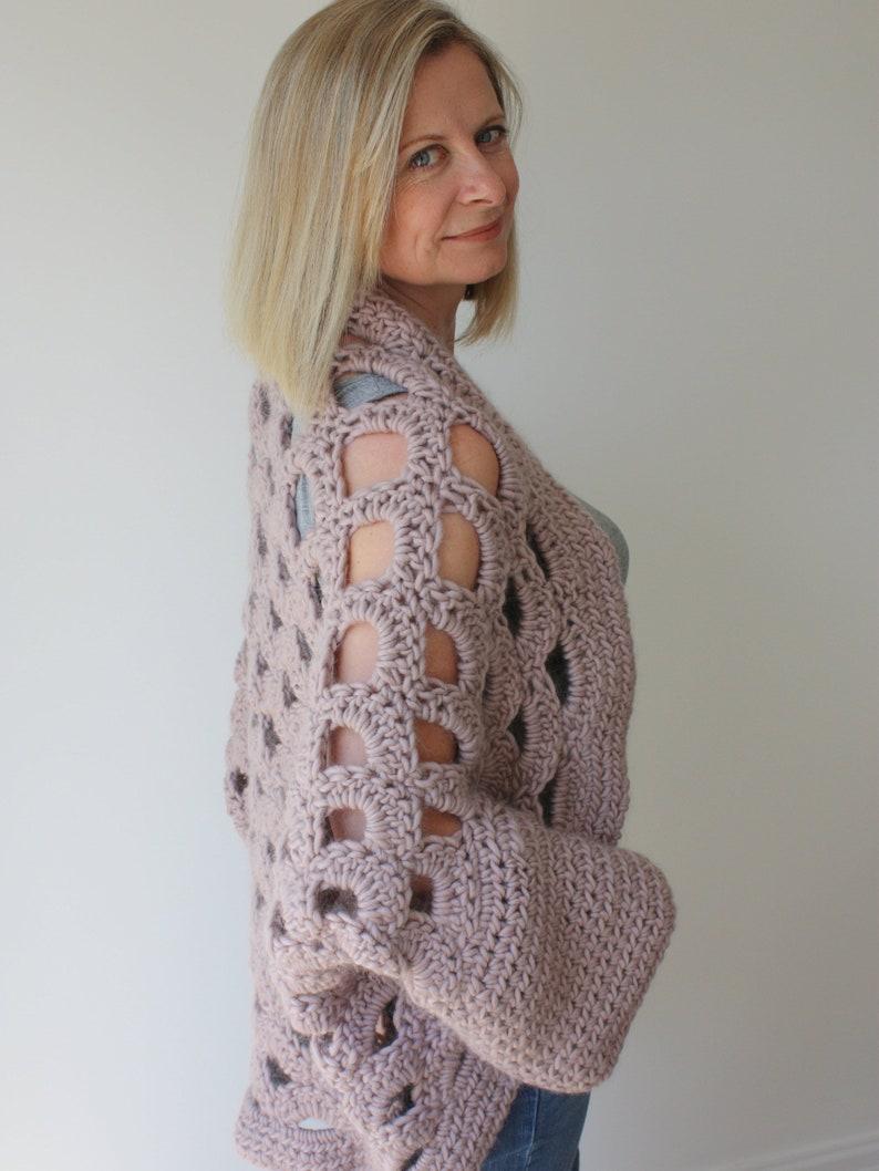 12ea22edc Crochet Sweater Pattern Cocoon Shrug Pattern Chunky Crochet