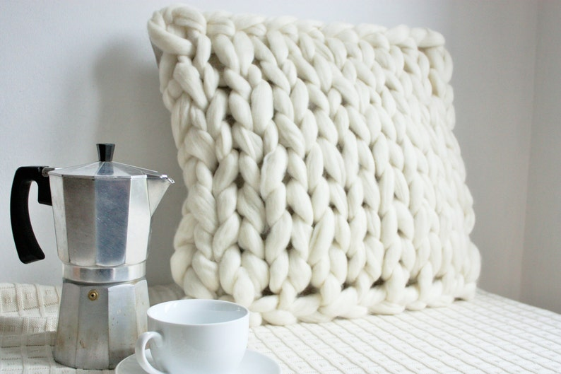 Handcrafted Home Decor Chunky Knit Cushion