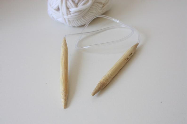 Beginner /& Kids Knitting Needles Chunky Knit Needles Circular Knitting Needles Bamboo knitting needles 12mm Wooden Needles Knitting Gift