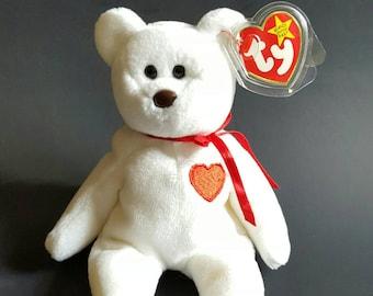 14b10462522 TY Beanie Baby Valentino Bear