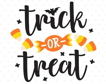 Trick or Treat SVG, Halloween SVG file, Trick or Treat Bag SVG file, Halloween Iron on file, Halloween Shirt cut file, Halloween Clipart
