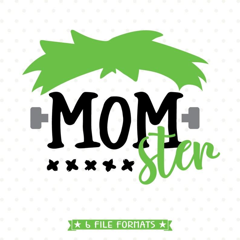 1c85cc019f4 Halloween SVG Momster SVG file Momster Shirt Iron on file
